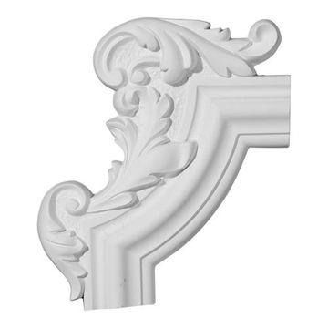 Restorers Architectural Pompeii Ornate Handed Corner Panel Molding