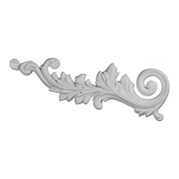 Restorers Architectural Robin Scroll Urethane Onlay Applique