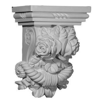 Restorers Architectural Rose 11 Inch Urethane Corbel