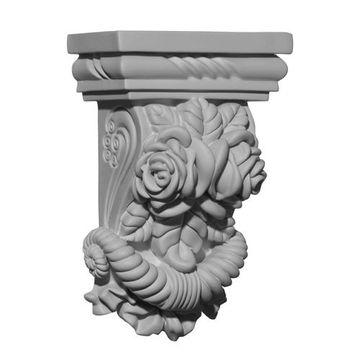 Restorers Architectural Rose 8 Inch Urethane Corbel