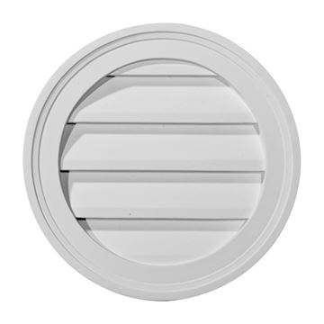 Restorers Architectural Round Urethane Functional Gable Vent