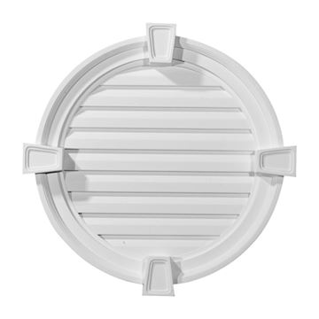 Restorers Architectural Round Urethane Functional Gable Vent With Keystones