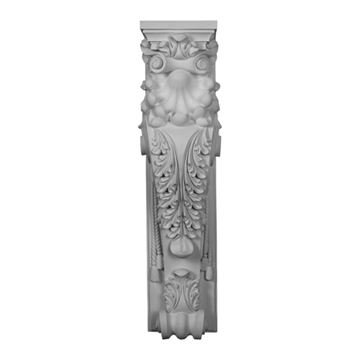 Restorers Architectural Scroll Leaf Urethane Fireplace Surround Column