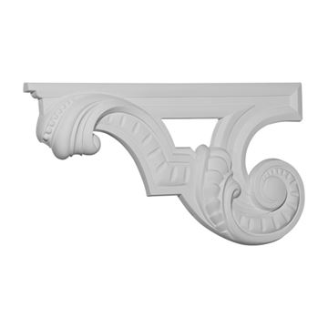 Restorers Architectural Scroll Urethane Stair Bracket