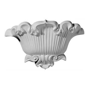 Restorers Architectural Shell & Scroll Urethane Sconce