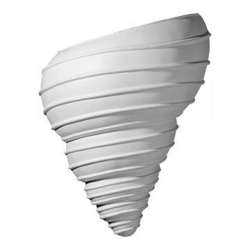 Restorers Architectural Shell Twist Urethane Sconce