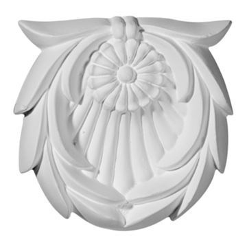 Restorers Architectural Shell Urethane Rosette Applique