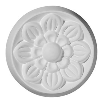 Restorers Architectural Small Flower Urethane Rosette Applique