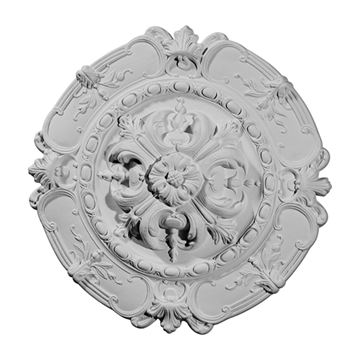 Restorers Architectural Southampton Rosette Urethane Ceiling Medallion