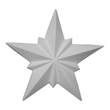 Restorers Architectural Star Urethane Onlay Applique