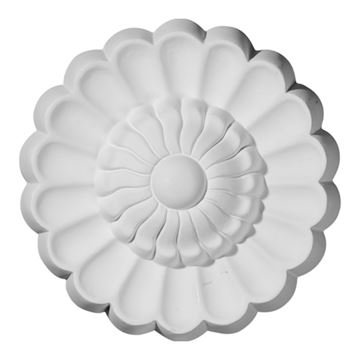 Restorers Architectural Sunflower Urethane Rosette Applique