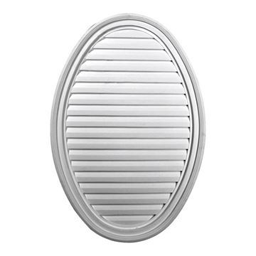Restorers Architectural Vertical Oval Urethane Decorative Gable Vent