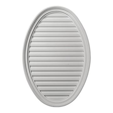 Restorers Architectural Vertical Oval Urethane Functional Gable Vent