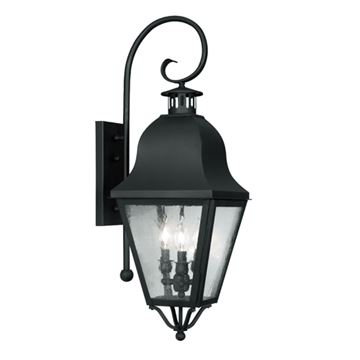 Livex Lighting Amwell Outdoor 3 Light Wall Lantern