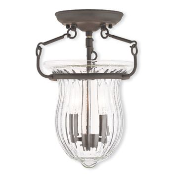 Livex Lighting Andover 10 Inch Semi Flush Light
