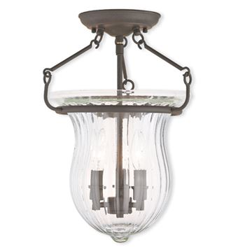Livex Lighting Andover 12 Inch Semi Flush Light