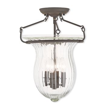 Livex Lighting Andover 14 Inch Semi Flush Light