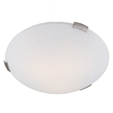 Livex Lighting Ariel 16 1/2 Inch Satin Opal Flush Ceiling Light