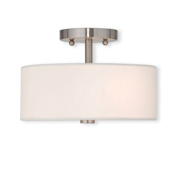 Livex Lighting Brighton 11 Inch Semi Flush Ceiling Light
