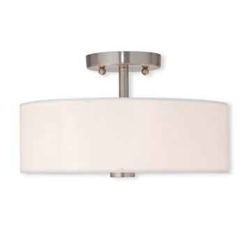 Livex Lighting Brighton 13 Inch Semi Flush Ceiling Light