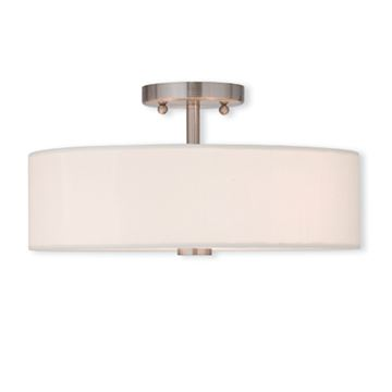 Livex Lighting Brighton 15 Inch Semi Flush Ceiling Light
