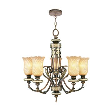 Livex Lighting Bristol Manor 5 Light 26 Inch Chandelier