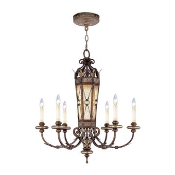 Livex Lighting Bristol Manor 6 Light 30 Inch Chandelier