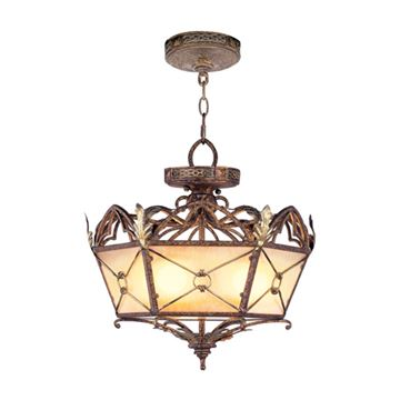 Livex Lighting Bristol Manor Convertible 17 1/2 Inch Ceiling Light