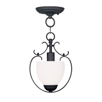 Livex Lighting Brookside 1 Light Chain Or Semi Flush Light