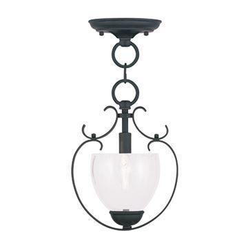 Livex Lighting Brookside 11 3/4 Inch Chain Or Semi Flush Light