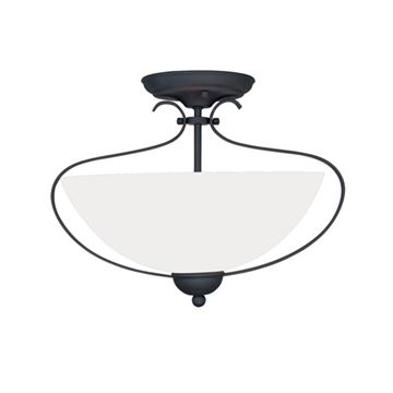 Livex Lighting Brookside 15 Inch Semi Flush Light