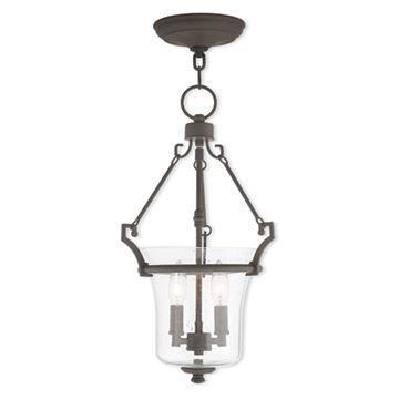 Livex Lighting Buchanan 11 Inch Seeded Glass Pendant Light