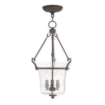 Livex Lighting Buchanan 13 Inch Seeded Glass Pendant Light