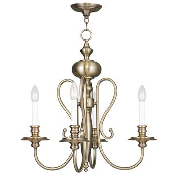 Livex Lighting Caldwell 4 Light Chandelier