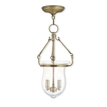 Livex Lighting Canterbury 18 Inch Bell Pendant Light