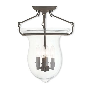 Livex Lighting Canterbury 18 Inch Bell Semi Flush Light