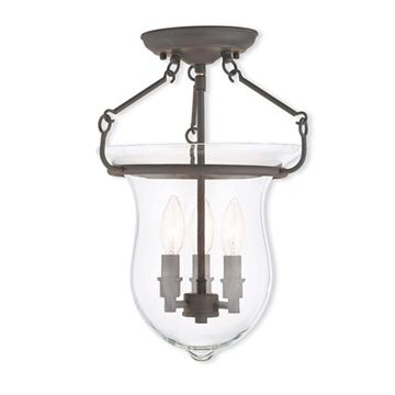 Livex Lighting Canterbury Bell 16 Inch Semi Flush Light