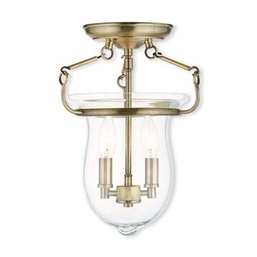Livex Lighting Canterbury Bell Semi Flush Bell Light