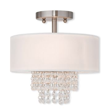 Livex Lighting Carlisle 11 Inch Semi Flush Ceiling Light