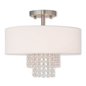 Livex Lighting Carlisle 13 Inch Semi Flush Ceiling Light