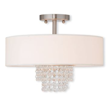 Livex Lighting Carlisle 15 Inch Semi Flush Ceiling Light