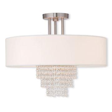 Livex Lighting Carlisle 18 Inch Semi Flush Ceiling Light