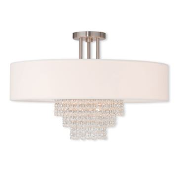 Livex Lighting Carlisle 22 Inch Semi Flush Ceiling Light