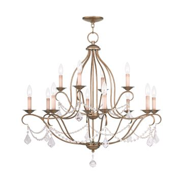 Livex Lighting Chesterfield 12 Light Chandelier