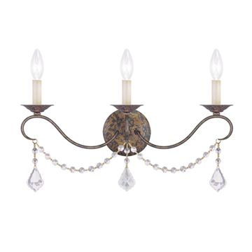 Livex Lighting Chesterfield 3 Light Wall Sconce