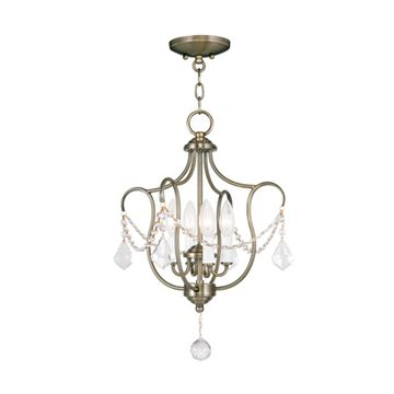 Livex Lighting Chesterfield 4 Light Convertible Chain Or Chandelier