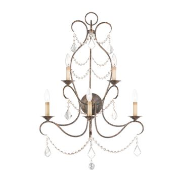 Livex Lighting Chesterfield 5 Light Wall Sconce