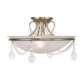 Livex Lighting Chesterfield Pennington 16 Inch Semi Flush Light