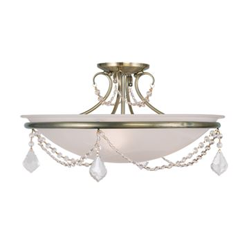 Livex Lighting Chesterfield Pennington 20 Inch Semi Flush Light