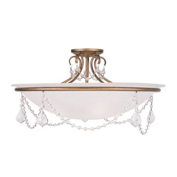 Livex Lighting Chesterfield Pennington 24 Inch Semi Flush Light